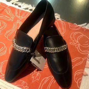 NWT Zara Women Leather Loafers